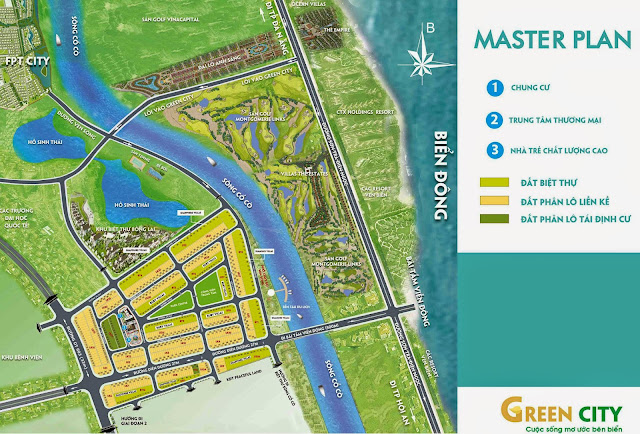 Bản đồ phân lô dự án Green City Đà Nẵng