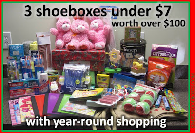 Why I shop year round for my Operation Christmas Child shoeboxes.