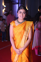 Shalini Pandey in Beautiful Orange Saree Sleeveless Blouse Choli ~  Exclusive Celebrities Galleries 042.JPG