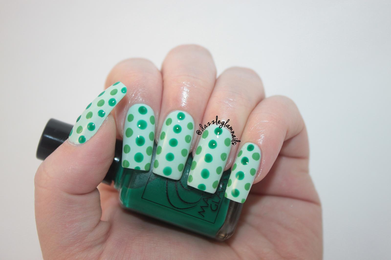 Dazzle Glam Nails   Nail Art Blog: St. Patrick\'s Day Dotticure Nail ...