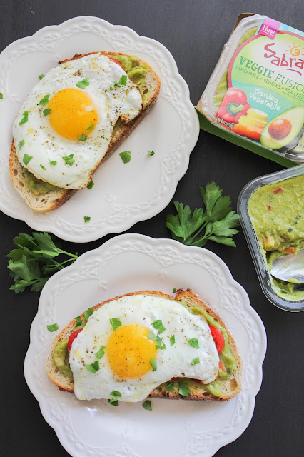 Simple Egg and Guacamole Toast | The Chef Next Door