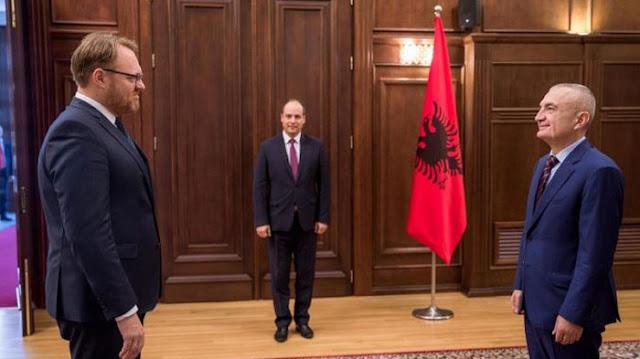 New Danish Ambassador in Tirana René Rosager Dinesen handed over diplomatic credentials to Albanian President