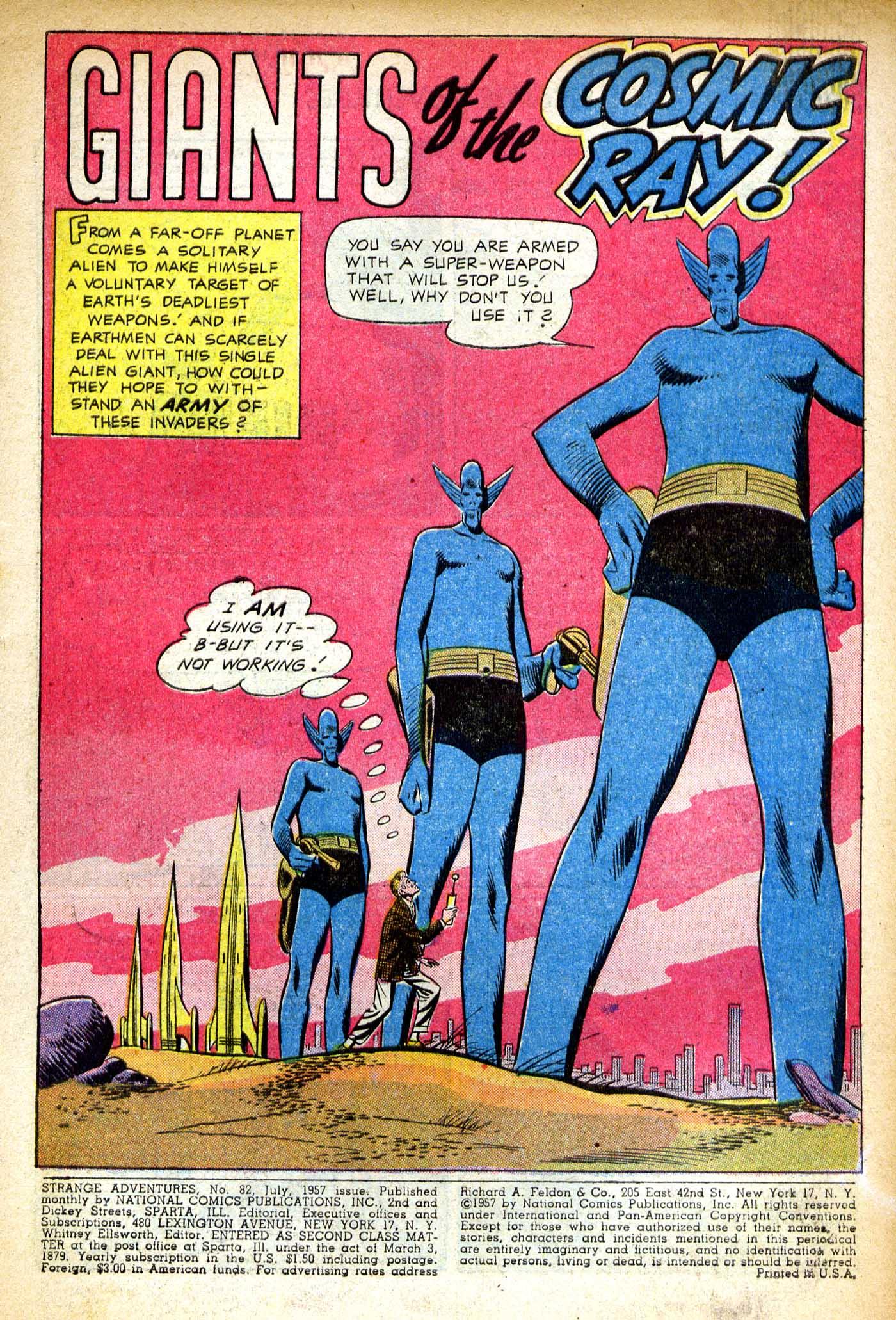 Strange Adventures (1950) issue 82 - Page 2