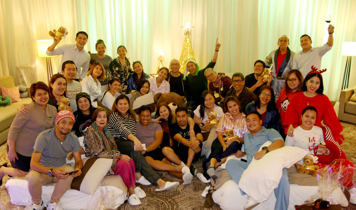 Davao Digital Influencers and Davao media friends during the PJ night party