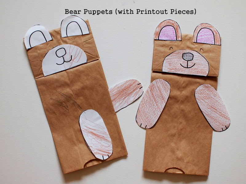 3 Easy Bear Hunt Activities (with printables) Pink Stripey Socks