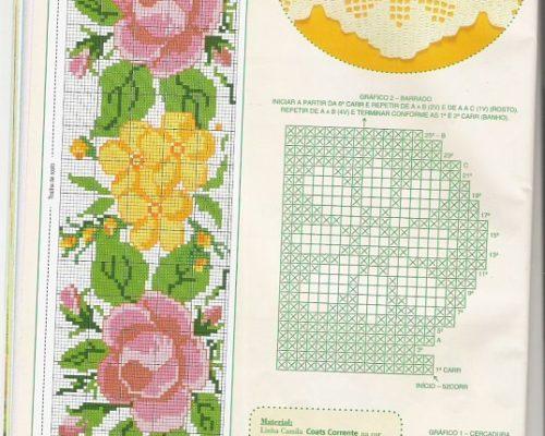 edccee306 Tags: Gráficos de flores em Ponto Cruz, gráfico ponto cruz flor , flor em ponto  cruz para bebe, flor ponto cruz para toalha de banho, ponto cruz  monogramas, ...