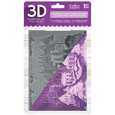 3d Christmas village embossing folder just £5.99!
