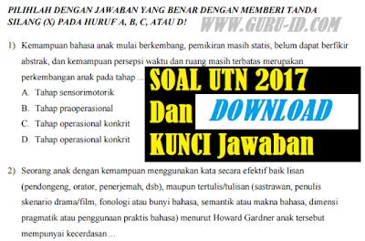 GAMBAR Soal UTN PLPG 2017 Dilengkapi dengan Kunci Jawaban