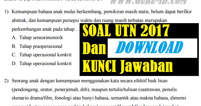 Latihan Soal Ppg 2018 Kunci Jawaban Info Pendidikan Terbaru