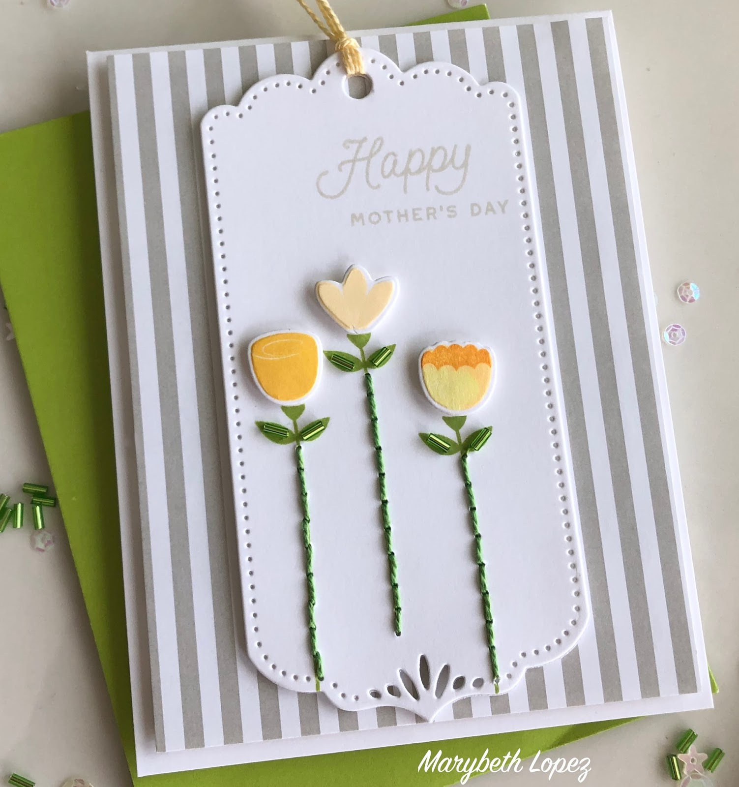 Marybeths Time For Paper Stitched Mothers Day Blooms