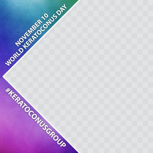 World Keratoconus Day 2018 Facebook Profile Picture Frame