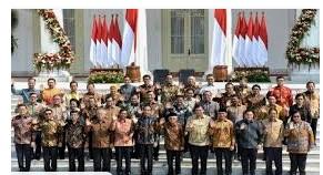 gambar daftar nama menteri Susunan Kabinet Indonesia Maju periode 2019-2024