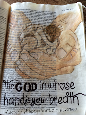 Daniel Bible Journal Page by Lynn Shokoples