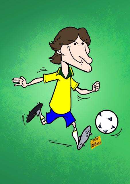 Leonardo Araujo cartoon caricature