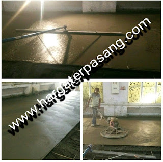 Tukang trowel lantai beton spesialis cor poles