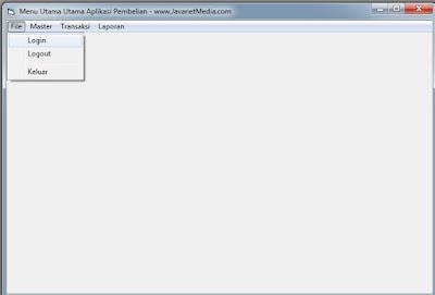 Cara Membuat Form Menu Utama Aplikasi Pembelian VB 6.0