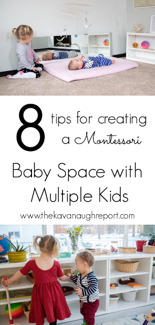 8 tips for creating a Montessori baby space when you have multiple kids