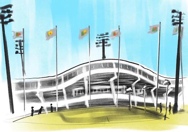 Urban sketch Malmö g:a Stadion