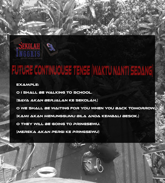 Future Continuouse Tense (Waktu Nanti Sedang)