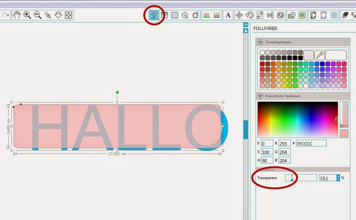 """Screenshot """"Füllfarbe anpassen"""""""