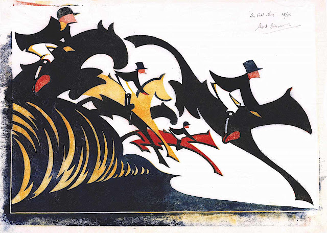 a print by Cyril Power, steeplechase