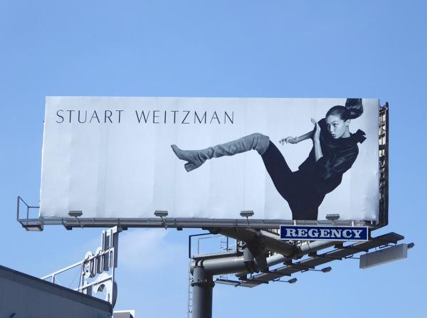 Stuart Weitzman boots FW 2016 Gigi Hadid billboard