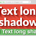 Tool Text Long Shadow Generator CSS
