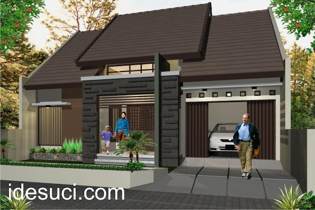 Rumah Minimalis Klasik Modern: terbaru: Denah Rumah Type & Gambar Desain Rumah Type 45/80 - Rumah Bojo