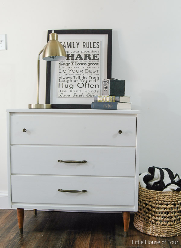 A $15.00 Goodwill dresser gets a beautiful Mid Century Modern makeover!