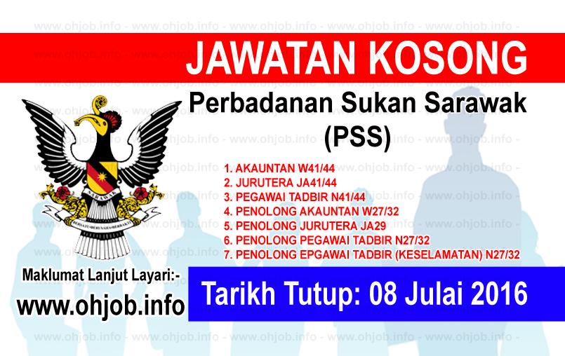 Jawatan Kerja Kosong Perbadanan Sukan Sarawak (PSS) logo www.ohjob.info julai 2016