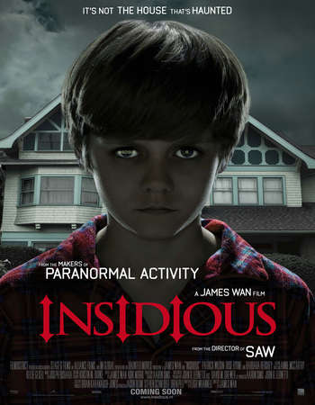 Poster Of Insidious 2010 Dual Audio 400MB BRRip 720p ESubs HEVC Free Download Watch Online downloadhub.net