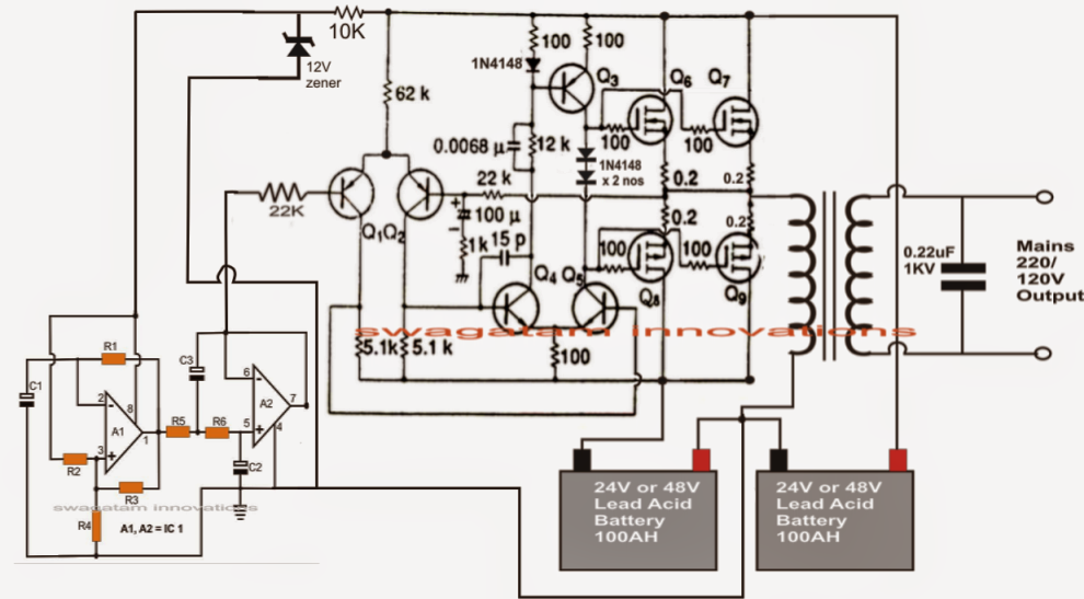 Pure Sine Wave Inverter Circuit Diagram Free Download - Home Wiring Diagram | Pure Sine Wave Inverter Circuit Diagrams Free Download |  | Home Wiring Diagram