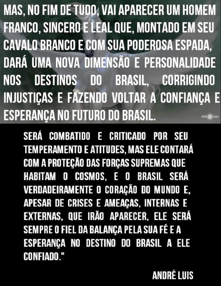 Astrólogo diz que Bolsonaro é o homem do cavalo branco psicografado por Chico Xavier  (AstroLucas)