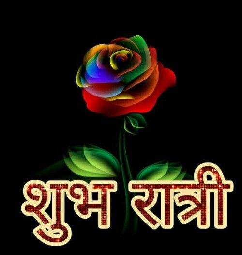 Good Night Images in Hindi with Flower