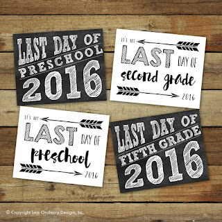 graphic relating to Last Day of School Printable named No cost Printable: Past Working day of College 2016 Signs or symptoms - Sara Luke