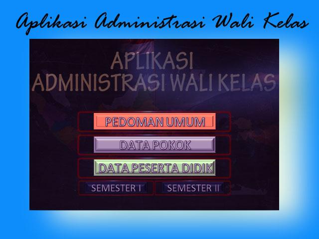 Apliaksi Administrasi Wali Kelas ( Awak ) SD New Version Excel