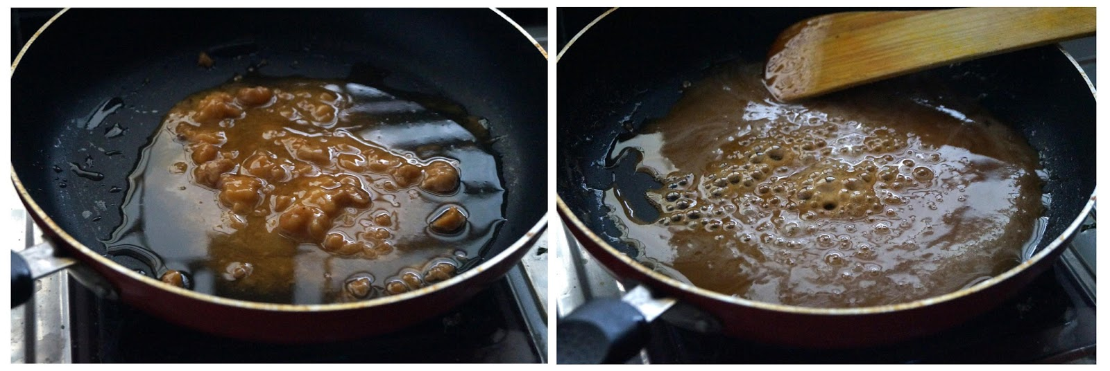 making stuffing for poornam kudumulu, ganesh chaturthi special recipes