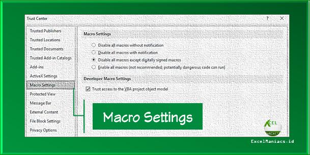Cara Mengaktifkan Macro Excel