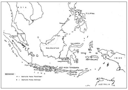 Peta Persebaran Manusia Purba Dan Persebaran Kebudayaannya Guru