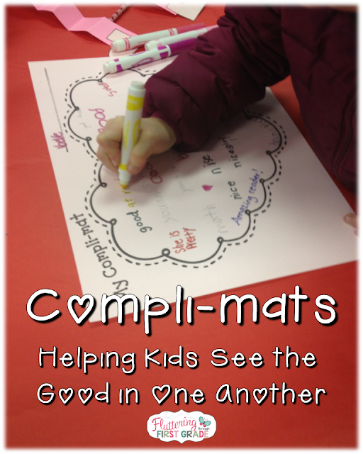 Kindness activity for kids. Compli-Mats help kids see the good in one another.