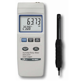 Jual HUMIDITY METER with data logger (Thermohygrometer) Lutron YK-90HT