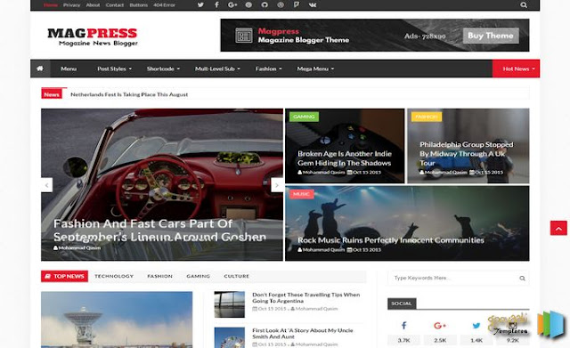 Magpress Blogger Template