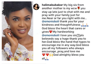 Omoni Oboli stays up late to pray for ailing actress, Halima Abubakar