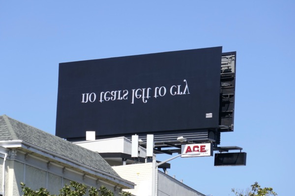 Ariane Grande No tears left to cry upside-down billboard