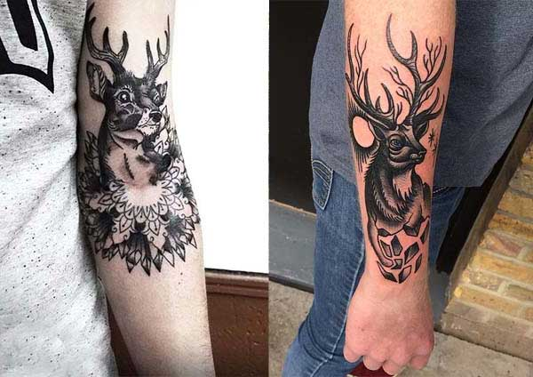 black deer arm tattoo