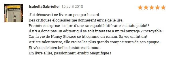 Nancy Storace, Muse de Mozart et de Haydn - Emmanuelle Pesqué - Commentaire lecteur Babelio