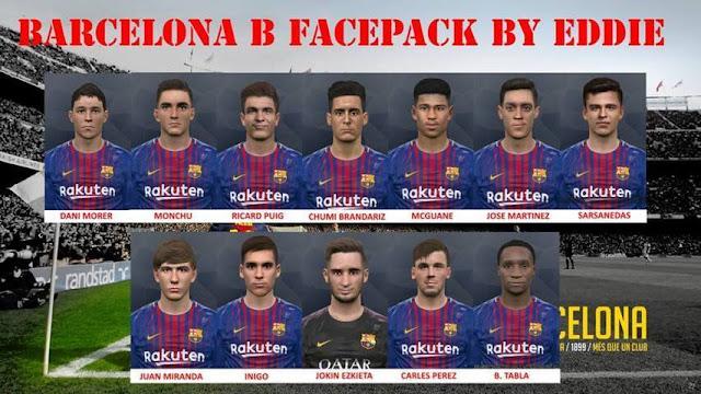 FC Barcelona B Face PES 2017