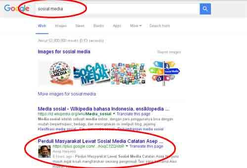 """Sempat bertengger di urutan nomor sekian di google dengan keyword """"sosial media"""""""