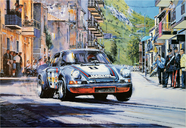The Final Targa print by Nicholas Watts, Autographed by Gijs Van Lennep