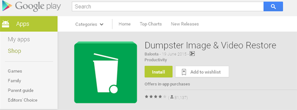 Dumpster - Recycle bin on Android
